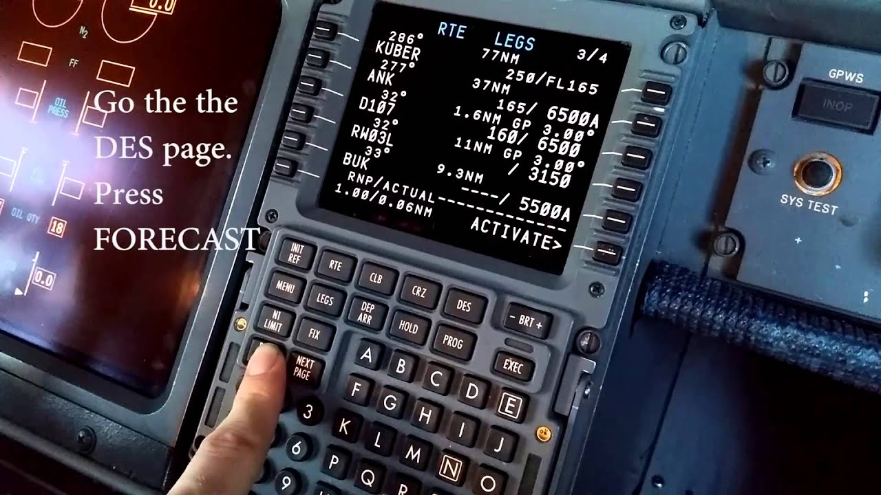 boeing 737ng fms pre flight setup youtube rh youtube com  boeing 737-800 fmc manual