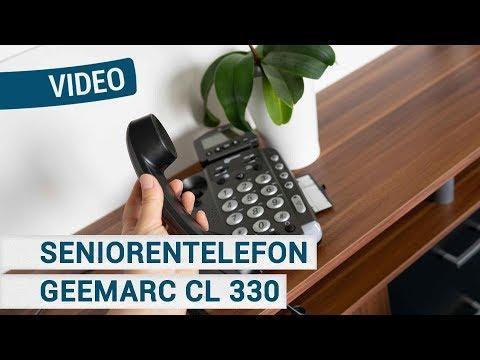 Geemarc CL330 Seniorentelefon mit Sprachausgabe