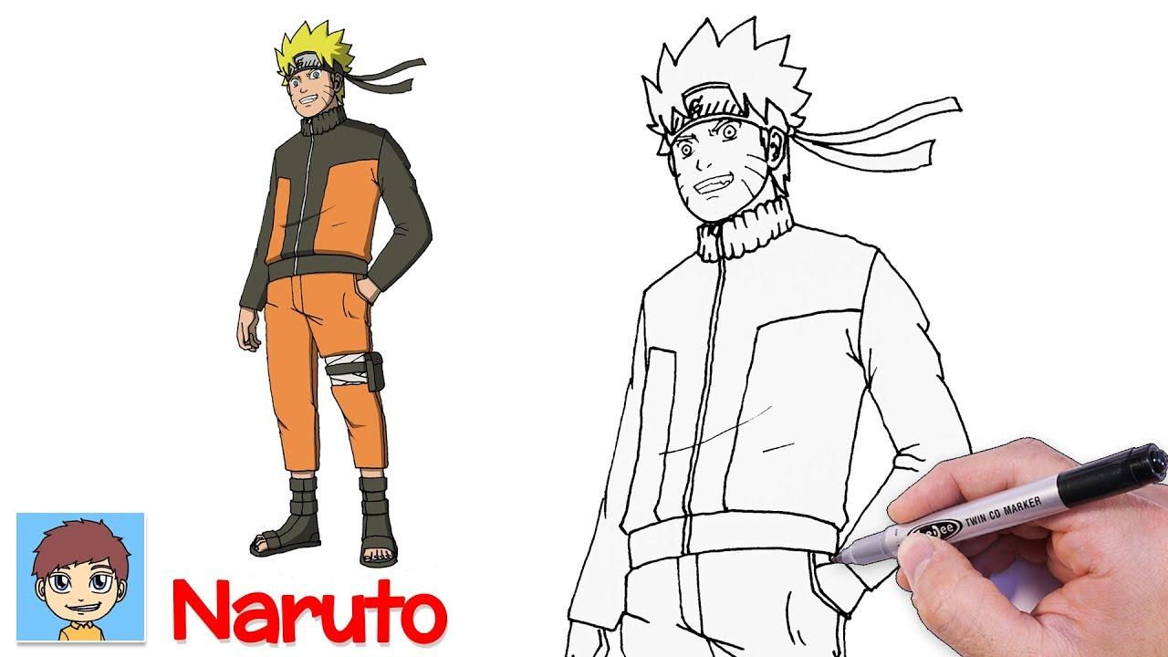 Comment Dessiner Naruto Facilement Dessin Facile Naruto Shippuden Youtube