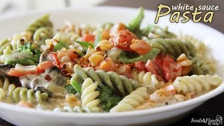 Pasta In White Sauce | White Sauce Pasta Recipe - Easy Kids Snacks/lunch Box/ Breakfast Recipes