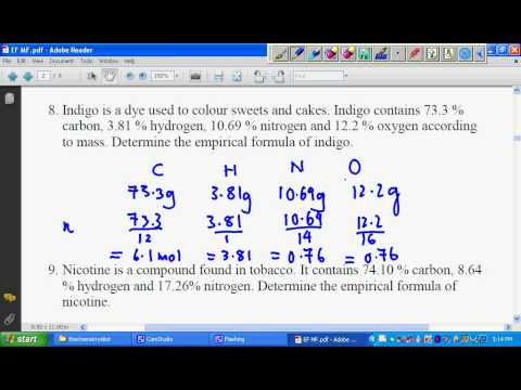 SPM Chemistry Empirical Formula Worksheet 4 Solution #3 - YouTube