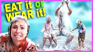 EAT IT or WEAR IT Challenge! Super Fun and Super Messy!