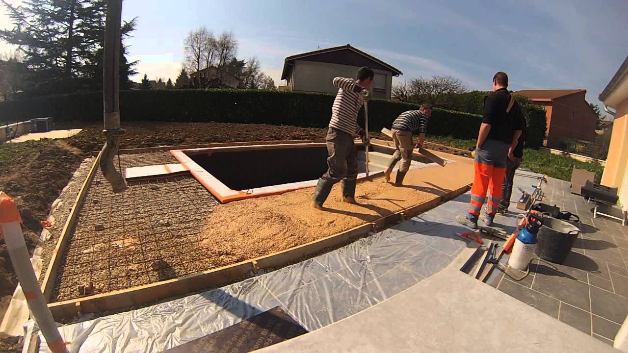Colorant Beton Exterieur Dalle Béton Coloré - Youtube