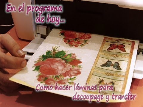 Como hacer laminas decoupage y transfer 1 2 youtube - Laminas decorativas para pared ...