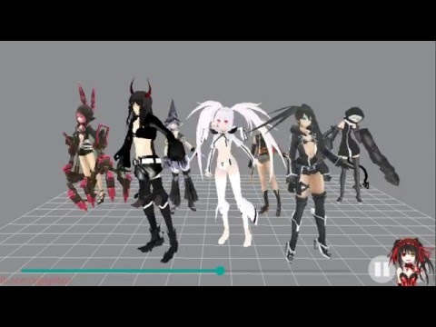 [MMD] Black Rock SHooter - Elektrika Dance