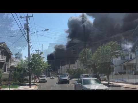 Smoky blaze in Wildwood Crest can be seen for miles