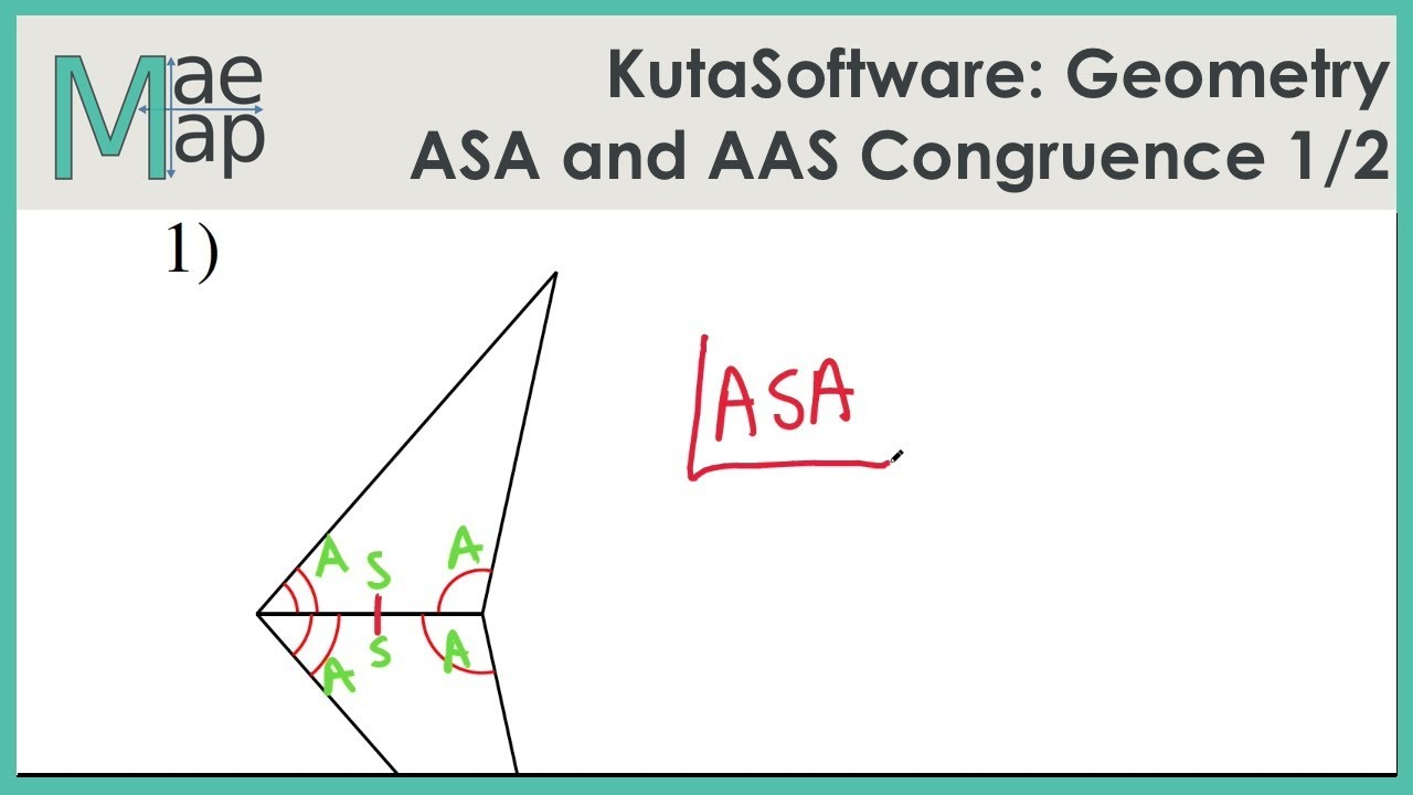 Kutasoftware Geometry Asa And Aas Congruence Part 1 Youtube