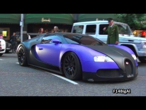 Matte Purple Black Bugatti Veyron Cruising Youtube