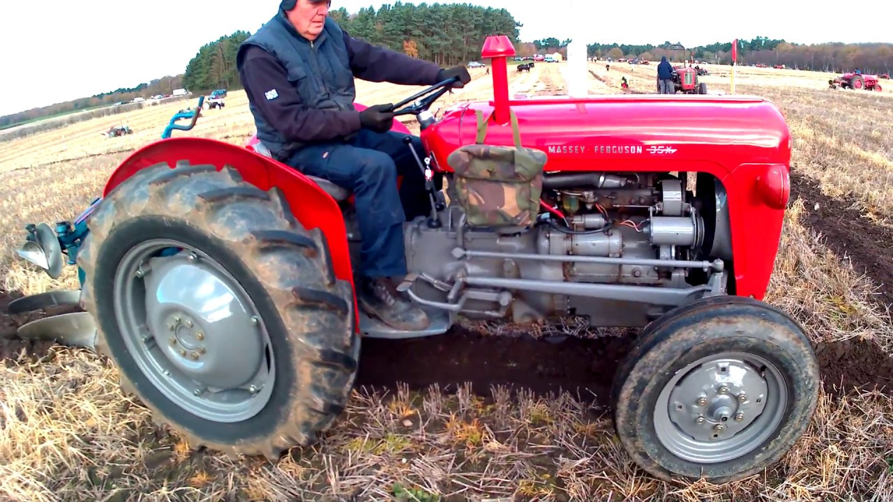 1963 Massey Ferguson 35X 2 5 Litre 3-Cyl Diesel Tractor (44HP) With  Ransomes Plough
