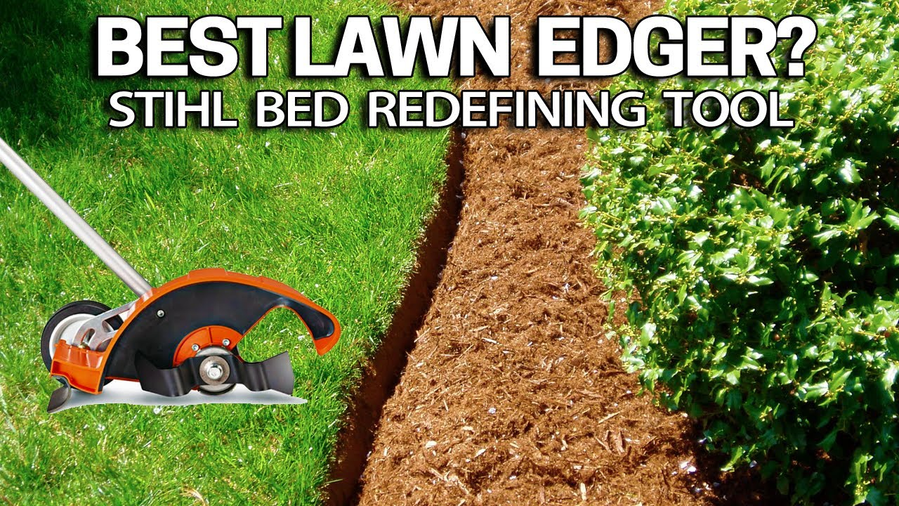 How To Edge Beds Like A PRO With This Lawn Edger   Stihl Bed Redefiner
