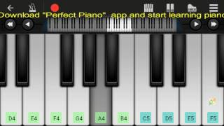 Aise Na Mujhe Tum Dekho (Armaan Malik) - Perfect Mobile Piano Tutorial