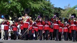 英国陸軍近衛軍楽隊が横浜で市中パレード British Army Coldstream Guards parade in Japan