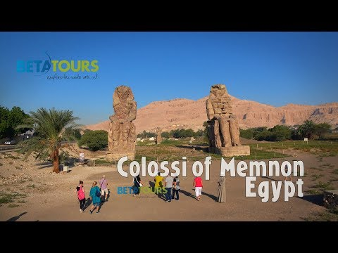 Colossi of Memnon, Egypt 4K travel guide bluemaxbg.com