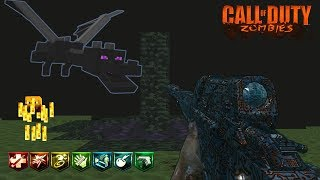 MINECRAFT VILLAGE CUSTOM ZOMBIES EASTER EGG Y BATALLA FINAL CONTRA ENDER DRAGON | WORLD AT WAR