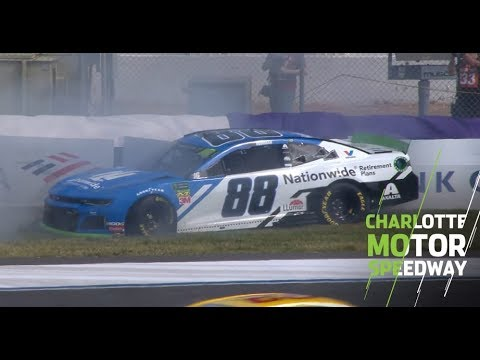 Alex Bowman Crashes With Seconds Left | NASCAR At Charlotte Motor Speedway Roval