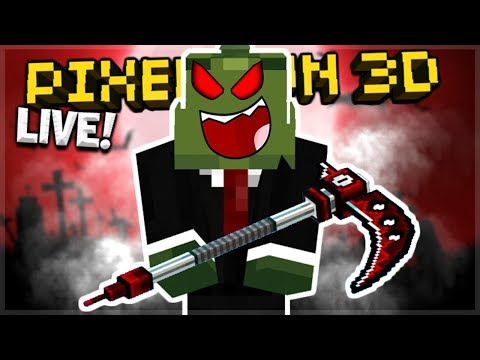 LIVE NOW - BECOMING THE GRIM REAPER!! WITH THE ANIME SCYTHE | Pixel Gun 3D