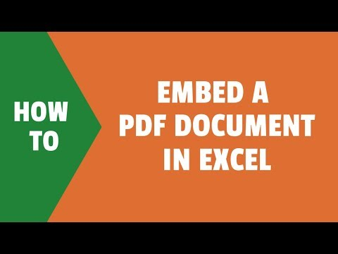 How to Embed a PDF Document in Excel