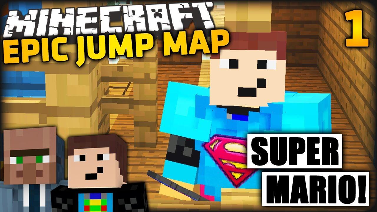 Minecraft Epic Jump Map 1 Cam Fun Mit Gommehd Super Mario