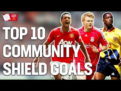 Top 10 Community Shield Goals | Giroud, Dzeko, Berbatov, Smith | FA Community Shield