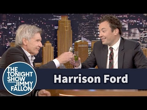 Jimmy Surprises Harrison Ford with a Millennium Fallon Drink