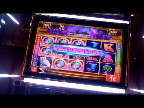 Snow Wizard big slot win 2 retriggers at Sugarhouse Casino.