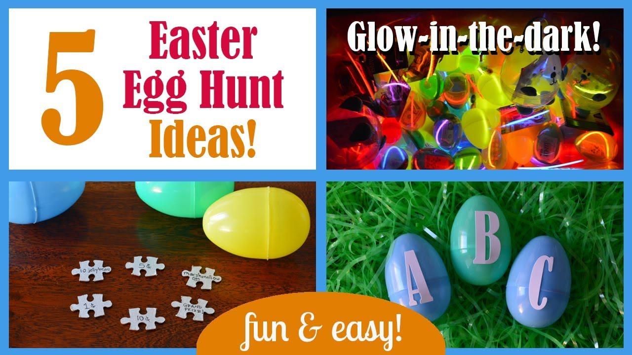 5 Fun Easy Easter Egg Hunts Glow In The Dark Youtube