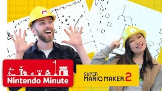 Sketching Our Super Mario Maker 2 Levels - Nintendo Minute