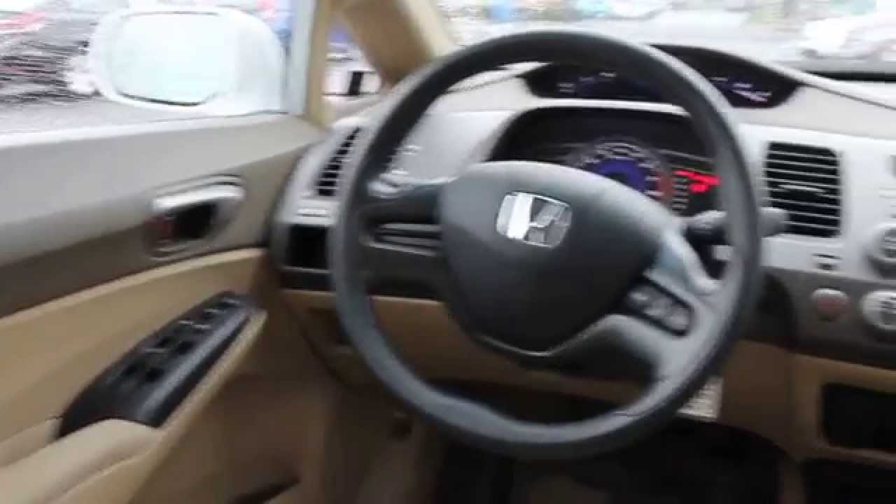 2008 Honda Civic, White - STOCK# B2966 - Interior - YouTube