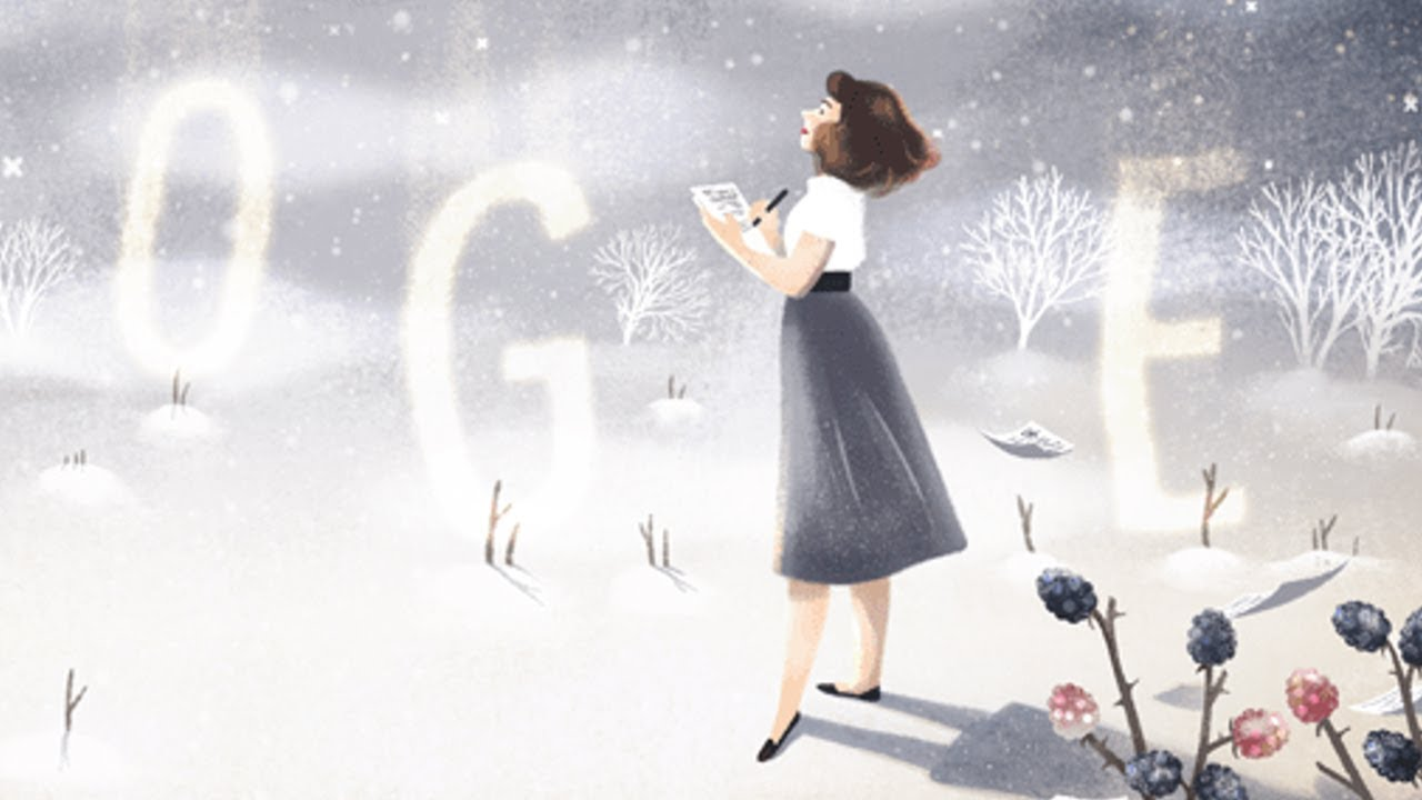 Google Doodle celebrates Sylvia Plath on what would have been ...