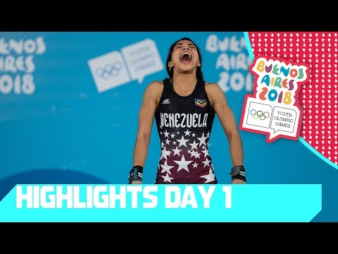 The first medals are awarded in Judo Swimming & Weightlifting | YOG 2018 Day 1 | Top Moments