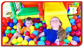 Indoor Playground Family Fun for Kids  Funderdome, Indoor Play Area. Princess Sofi and Bogdan's SHOW