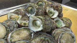漁師しか出来ない自分で大量にサザエを取って自分で食う遊び!