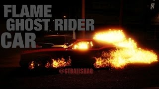 GTA 5 Online - Flame Ghost Rider Car Glitch - How To Get Flame Ghost Rider Car Online [PS4 Gameplay]