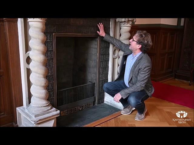 Kasteeltuinen Arcen: restauratie schouw Klavierzimmer