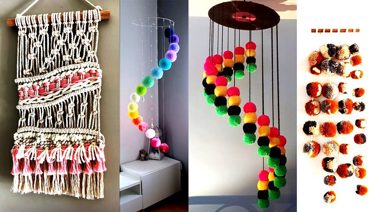 5 Diy Wall Hanging Craft Ideas For Home Decoration Diy Wall