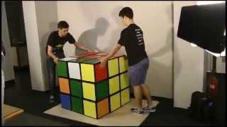 Solving the world's largest Rubik's Cube - Feliks Zemdegs & Mats Valk thumbnail