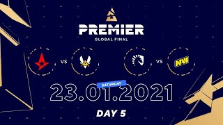 Astralis vs Vitality, Team Liquid vs NaVi  | BLAST Premier Global Final Day 5