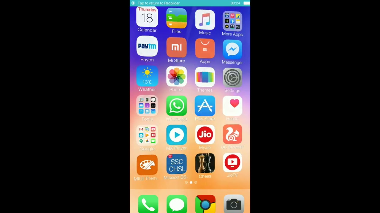 How to install ios 11 theme in android phone by PRATIK SHUKLA