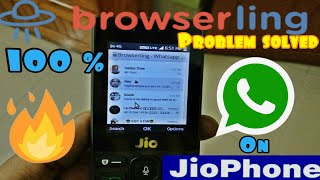 Gambar cover Browserling problem solved | WhatsApp on Jio phone | install WhatsApp on Jio phone