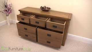 Cotswold Rustic Solid Oak 3 & 4 Drawer Chest