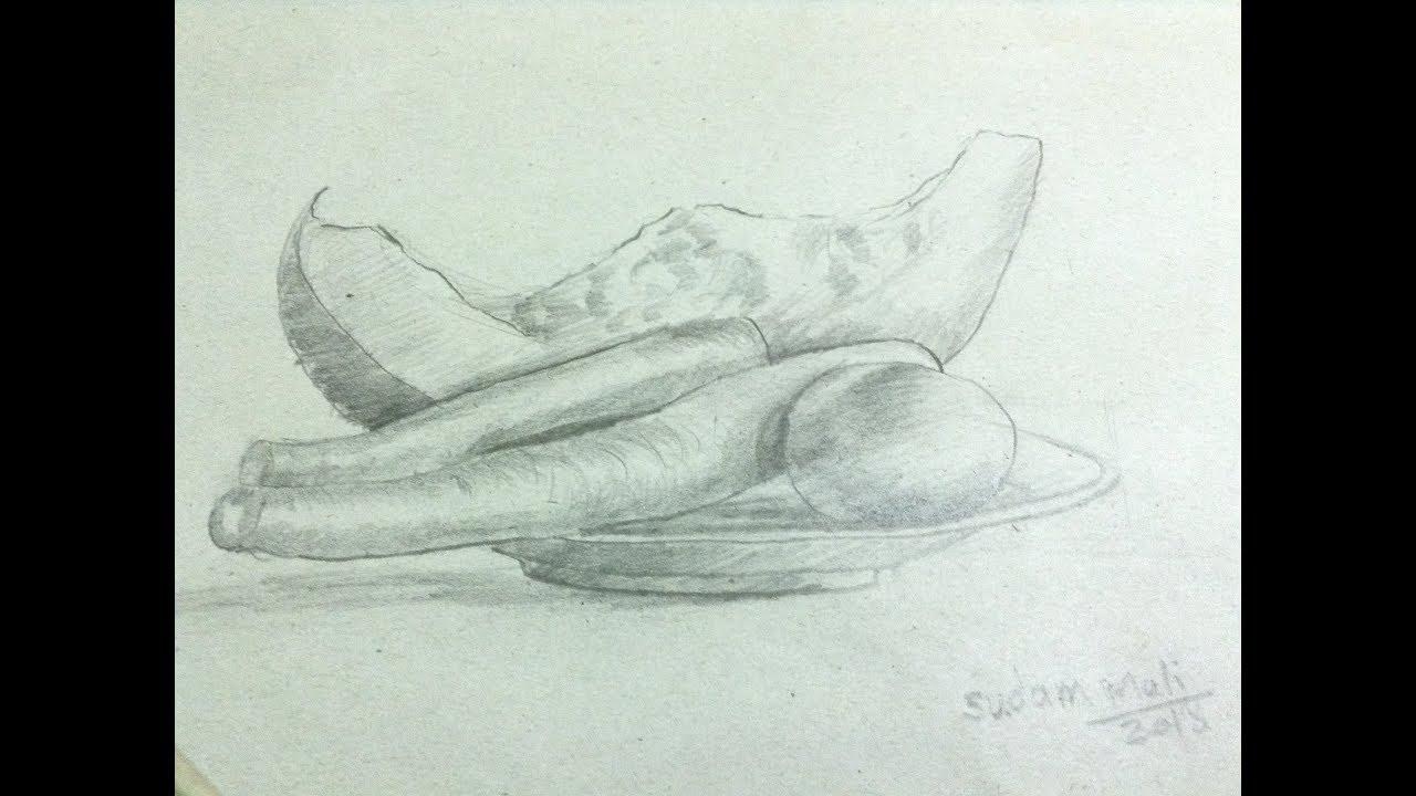 still life drawing (PENCIL SHADING)