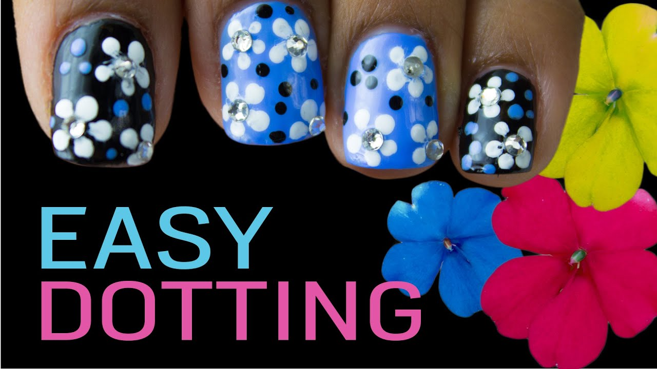 Easy Nail Art: Using Your Dotting Tool - YouTube