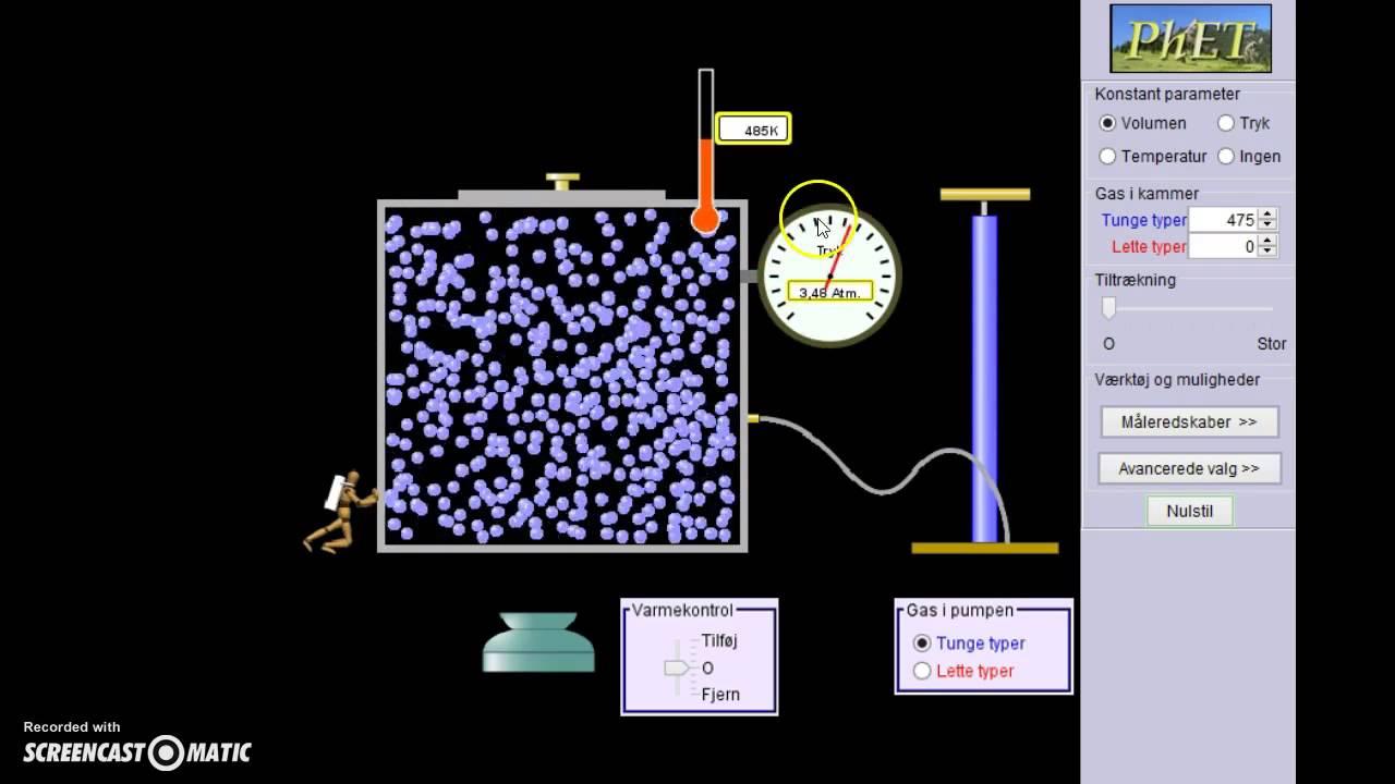 Mdt. fysik opgave: Idealgas lignignen