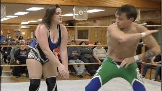 Davienne vs. Brett Ryan Gosselin - Limitless Wrestling (Let's Wrestle, Intergender, Mixed)