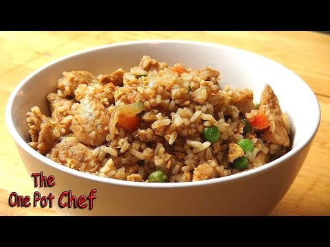 Super Fast Chicken Fried Rice   One Pot Chef