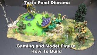 Toxic Pond Horror 50s Movie Diorama Model Build Tamiya Reaper Bones Figures