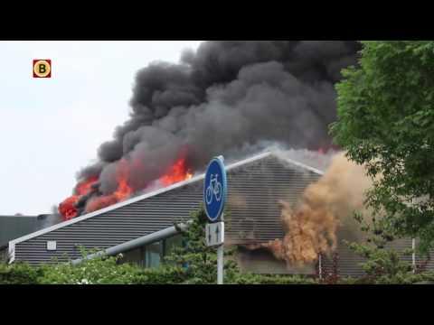 Zeer grote brand bij Van Zutven Feed Processing in Veghel