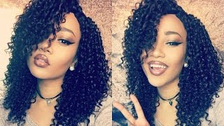 $30 PRE-TWEEZED FLAWLESS PART KINKY-CURLY LACE WIG – Divatress.com