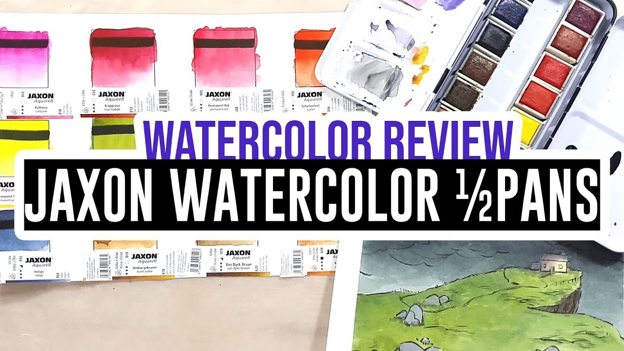 Review Demo Jaxon Watercolor Half Pans From Lena Youtube