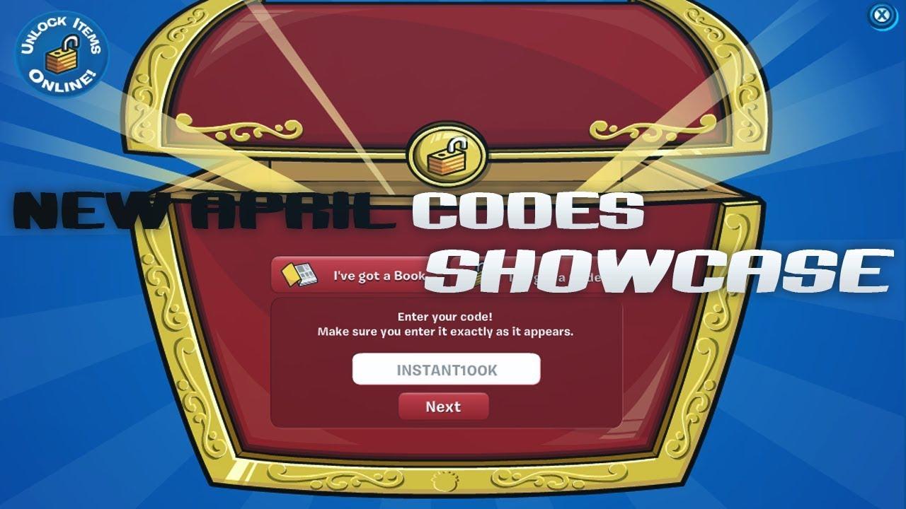 All Codes April 2019   Showcase   Club Penguin Online